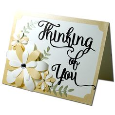 "Thinking of you Card-JMRush   Card size: 5.5"" x 4.25""       This design is compatible with both 8X12 and 12X12 mats.   You can purchase t..."
