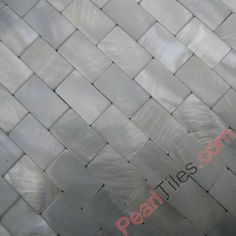 Pure White Seamless Brick Shell Tile Mother Of Pearl Tiles