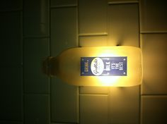 Vintage Glass Milk Bottle Used as a light fixture