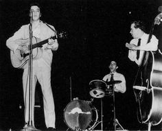 Elvis, DJ Fontana and Bill Black  1956