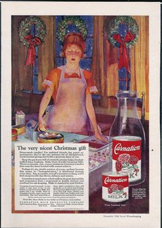 Vintage Christmas Ad ~ Carnation Milk ©1926