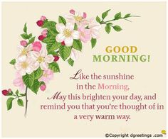 Good Morning friends .