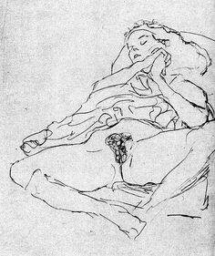 Gustav Klimt - Nude (detail)