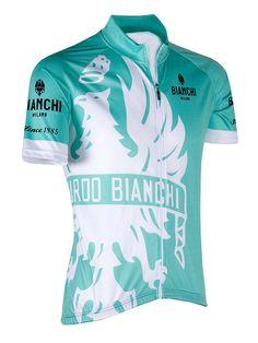 Bianchi-Milano Cinca Celeste Short Sleeve Jersey. Cycling GearCycling  ClothingCycling TopsRoad ... 3d647bb74