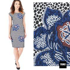 Eleganta brocartului intr-o rochie si de seara si de zi YOKKO | fall16  #flowerprint #brocade #dress #gardenparty #fall16 #style #fashion