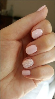 55 Glitter Gel nail designs for short nails for the spring of 2019 . - 55 Glitter Gel nail designs for short nails for the spring of 2019 … - Cute Nails, Pretty Nails, Neutral Wedding Nails, Wedding Gel Nails, Neutral Gel Nails, Simple Gel Nails, Bridal Nails, Gel Nail Color Ideas, Bridal Shower Nails