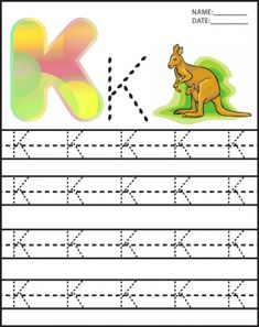 Letter K Alphabet Worksheet