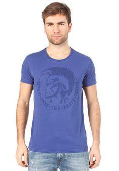 DIESEL Achel RS S/S T-Shirt Blau