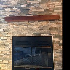 Excellent Images black Fireplace Mantels Concepts Custom fireplace mantel with drop front shelf media storage Black Fireplace Mantels, Distressed Fireplace, Wood Mantle, Fireplace Ideas, Wood Brackets, Wood Beams, Walnut Wood, Types Of Wood, Drop