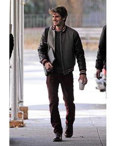 Andrew Garfield, letterman jacket