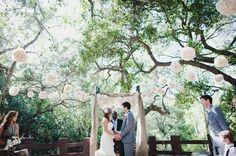 Beautiful outside wedding.