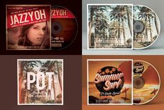 design Vintage Retro Album Cover or Mixtape and CD by kadaayoub