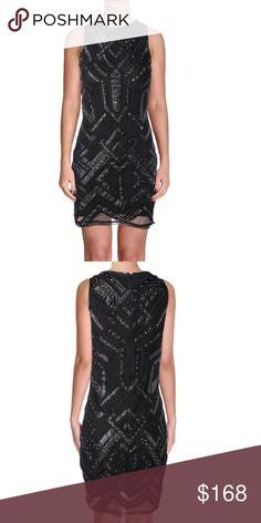 "PARKER $462* Black Studded Faux Leather Trim Dress New With Tags.   PARKER Black Studded Faux Leather Trim Dress  SIZE: SMALL RETAIL: $462.00  Total Length: 35"" Bust Across: 16"" Waist Across: 13 1/2""  Sleeveless Hidden Back Zipper Faux Leather Trim Nylon/Polyurethane/Polyester/Spandex Parker Dresses Mini"