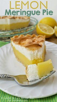 Lemon Meringue Pie. Amazing pie recipe.