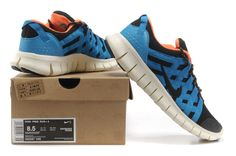 Mens Nike Free Powerlines Netz Schwarz Blau Orange