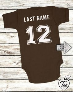 939e6afc483 Football Onesies Baby Bodysuit Infant Baby Personalized with Name and  Number Creeper Custom Jersey baby shower gift sports team unisex