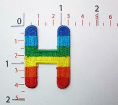 H Rainbow Letter Words Alphabet Embroidered Iron on Patch Sew on DIY Patches ** Read more at the image link.