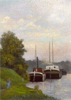 Charlands sur La-Seine - Albert Dubois-Pillet (French: 1846- 1890)