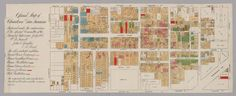 1885 San Francisco Chinatown map. 'It was basically part of a plan by the city supervisors to push Chinese immigrants out of the city.'