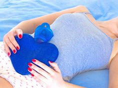 4 Yoga Poses to Ease Menstrual Cramps...You should teach a PMS Yoga class. ;)