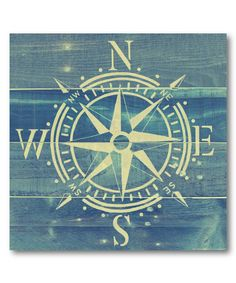 Look at this Compass Rose Wrapped Canvas on #zulily today!