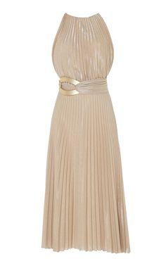 Maria Lucia Hohan Lorina Sleeveless Pleated Dress