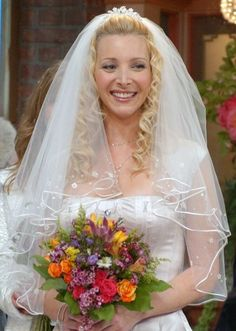 I copied Phoebe's hair for my own wedding. Loved my long spiral curls!
