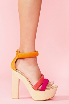 Love these bright multi-colored platforms!!