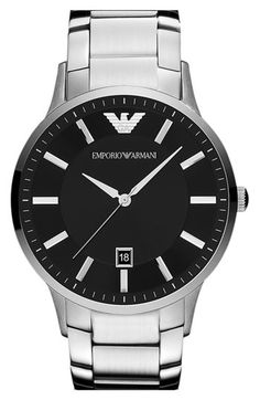 Emporio Armani 'Classic' Round Bracelet Watch available at #Nordstrom