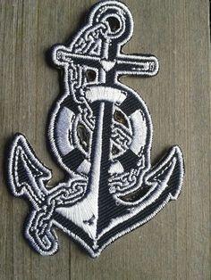 Anker Anchor Glaube Liebe Hoffnung maritimer Patch Aufnäher Segeln Rockabilly