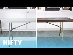 Folding Table Makeover - YouTube