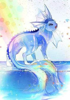 blue, pokemon, and water Bild