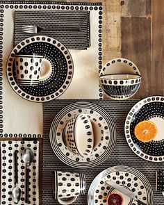 """""""In South Africa, there is so much raw energy in creativity—people are not hampered by preconceptions,"""" says Silverston of Potter's Workshop. Here, her black and white dinnerware, starting at $8. Shop now Credit: courtesy of West Elm  - ELLEDecor.com"""