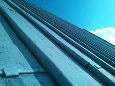 Lead roof blue sky