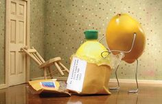 Wacky artist Terry Border specialises in bring food and ordinary objects alive.