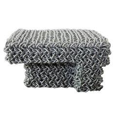 Knit Rubber Ottoman by Kwangho Lee