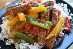 pepper steak for dinner
