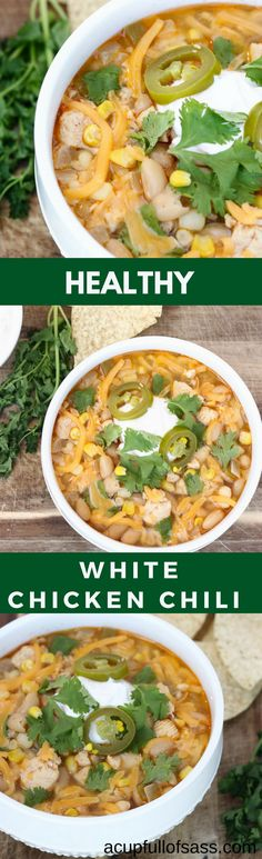 I love using my pressure cooker in the fall and winter. It's seriously taken the place of my slow cooker. This Healthy White Chicken Chili takes only 7 minutes to cook and taste like it's been simmering all day. Instant Pot Pressure Cooker, Pressure Cooker Recipes, Slow Cooker, White Chicken Chilli, Chicken Chili, Best Chicken Recipes, Easy Recipes, Healthy Recipes, Easy Weeknight Meals