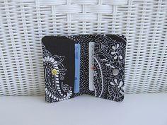 Card Holder / Card Wallet / Black & White by KthysKreations, $8.50