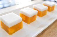 Mango Coconut Jelly Cubes วุ้นมะม่วง (woon mamuang)