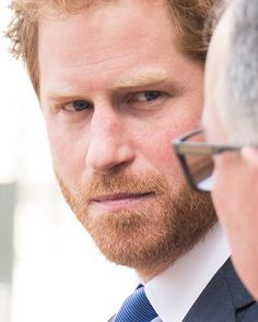 Prince Harry departs after the service of commemoration for the victims of the 2015 terrorist attacks In Tunisia at Westminster Abbey on April 12, 2016 in London, England.