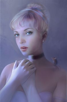 Realistic Disney Princesses-Cinderella (and a liiitle tiny mouse on her shoulder)