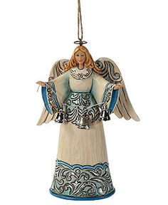 Jim Shore Christmas Ornaments, Christmas Collection - Blue and Silver Angel - Holiday Lane - Macy's