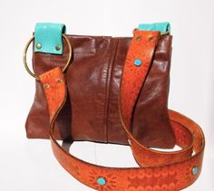 recycled leather bag - etsy