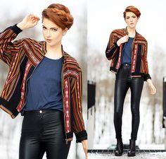 2hand Jacket, Cubus Top, Motel Rocks Pants, Vagabond Boots - ETNO - Ebba Zingmark