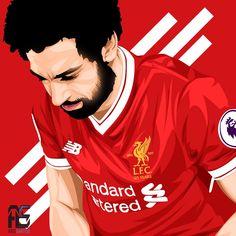 Fc Liverpool, Liverpool Football Club, Superstar Football, Mr Bin, Uefa Super Cup, Mo Salah, Mohamed Salah, European Cup, Football Art
