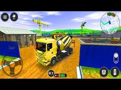 Cement Mixer Truck Transport - Drive Simulator 2 - Android Gameplay - YouTube