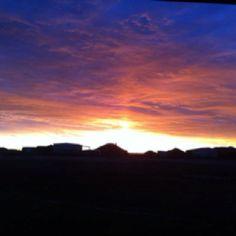 Awe Texas sunset