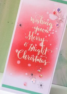 Hi! Well ..last day, and yet even more great Winnie & Walter new releases. Today I'm using several stamp sets, a die set & a creative screening (stencil). First up.. Merry & Bright with...