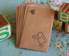 treat bags- find the stamps: classic winnie the pooh baby showers - Etsy